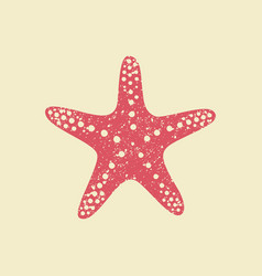 Starfish in flat style vector