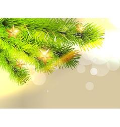 stylish christmas tree vector image