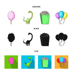 Sweet cotton wool on a stick a toy dragon vector