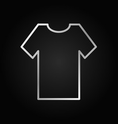 T-shirt silver line icon or logo element vector