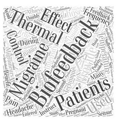 Thermal Biofeedback and Migraines Word Cloud vector