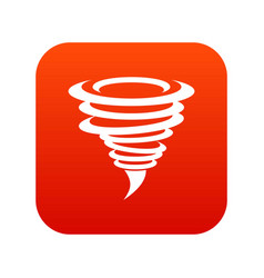 tornado icon digital red vector image
