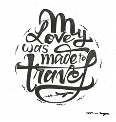 Travel inspiration quotes and airplane silhouette vector