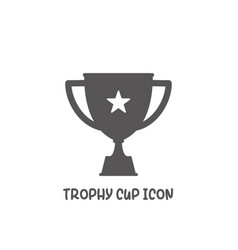 trophy cup icon simple flat style vector image