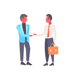Two businessmen shaking hands business men vector