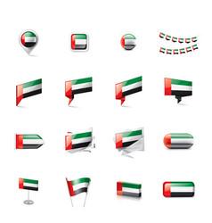 united arab emirates flag on vector image