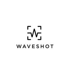 wave shot photography logo design concept vector image