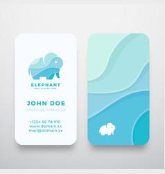 Wavy elephant abstract sign or logo vector