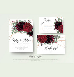 wedding invite invitation rsvp thank you card vector image