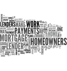 What to do when mortgage trouble hits text word vector