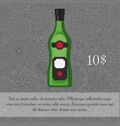 alcoholic beverage vermouth card template vector image vector image