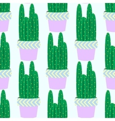 Cactus pattern background vector image vector image