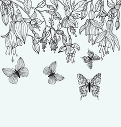 coloring page design in line Hand drawn texture w vector image