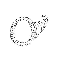 Horn of plenty vector image vector image