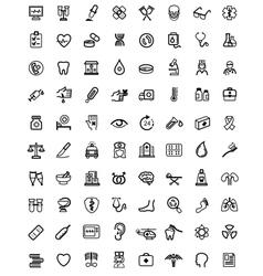Medicine Heath Care icons vector image