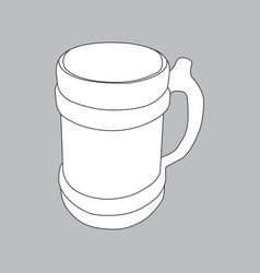the image of an old beer mug vector image vector image
