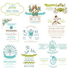 Wedding Vintage Invitation Collection vector image