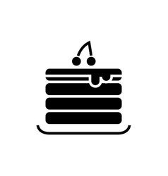 pancakes icon black sign on vector image