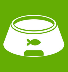bowl for animal icon green vector image
