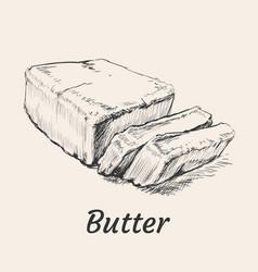 Butter hand drawn vector