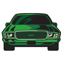 Car Front vector image