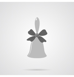 Gray Bell Flat Icon vector image vector image