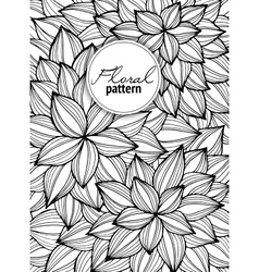 Greeting card with abstract flowers Page for vector image