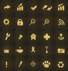 Icons web vector image vector image