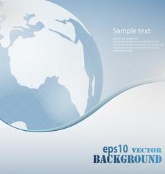 light blue business background vector image vector image