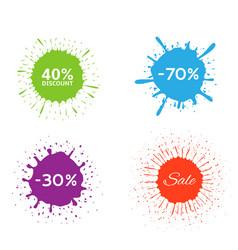 discount label set vector image