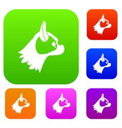 Pug dog set collection vector
