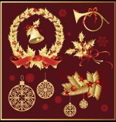 set of christmas decoration variation vector image