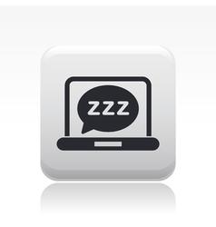 sleep computer icon vector image vector image