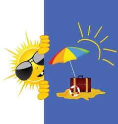 sun and beach art vector image
