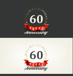 60 years happy anniversary banners vector