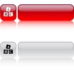 ABC cubes square button vector image