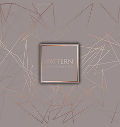 abstract background with rose gold design vector image