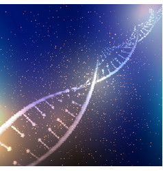 Abstract dna strand background vector