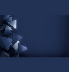 Abstract luxury silver and blue polygonal vector