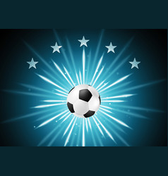 Abstract soccer background with ball and stars vector
