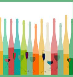alcoholic bottles background vector image