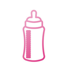 baby shower bottle milk little decorative vector image