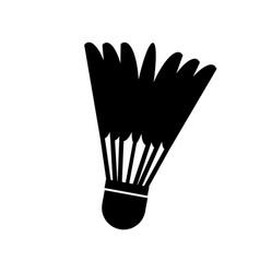 Badminton ball isolated icon vector
