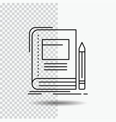 book business education notebook school line icon vector image