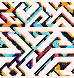 bright geometric seamless pattern vector image