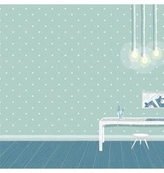 Children boys room in blue background design with vector image