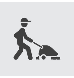 Cleaner icon vector image