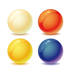 colored pearls vector image