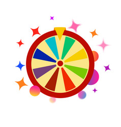 Colorful fortune wheel icon random choice wheel vector