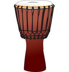 Djembe - tamtam percussion drum vector